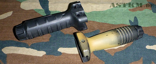 TangoDown Vertical Grip links, KAC Foregrip rechts